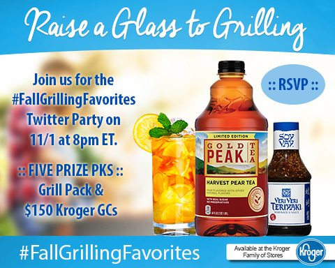 RSVP for the #FallGrillingFavorites Twitter Party on 11/1 from 8-9PM ET.