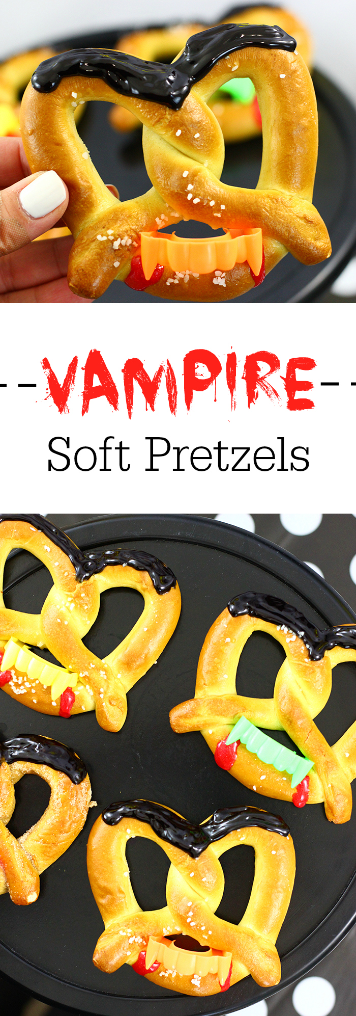 Vampire Soft Pretzels and Delicious Halloween Shake Ideas