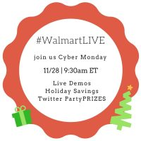 Join #WalmartLive on Cyber Monday