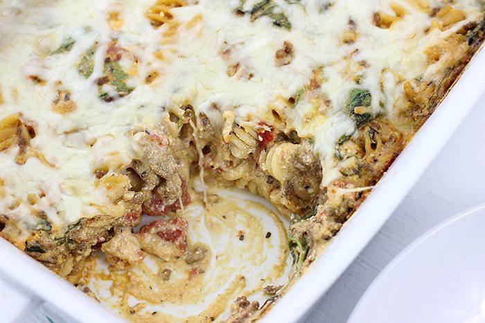 Zesty Beef Pasta Casserole is amazing, so EASY too. Mind blown.
