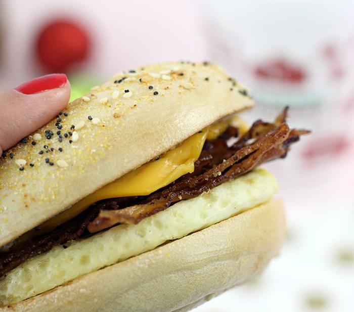 Sweet Black Pepper Bacon Breakfast Sandwich at Dunkin' Donuts. YUM.
