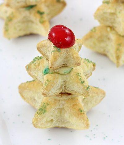 Easy Christmas Tree Pastries