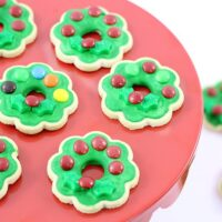 Super Easy Christmas Wreath Cookies