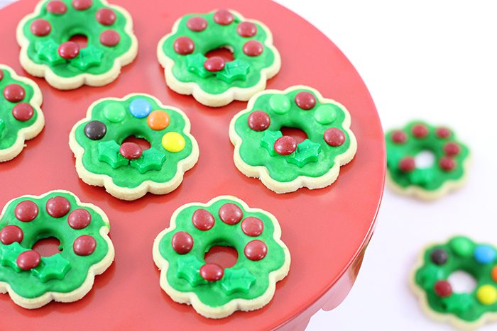 Christmas wreath cookies with only 4 ingredients and a dollar store shortcut that will rock Christmas. Fo sho.