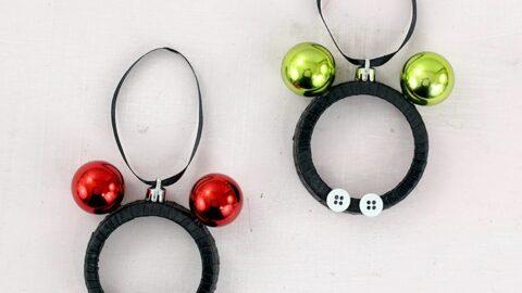DIY Mickey & Minnie Christmas Ornaments