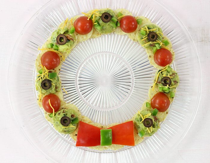 Nacho wreath, for the die hard nacho fans during the holiday season.