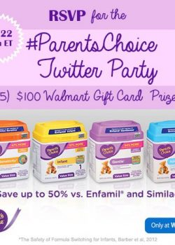RSVP for the #ParentsChoice Twitter Party on 12/22
