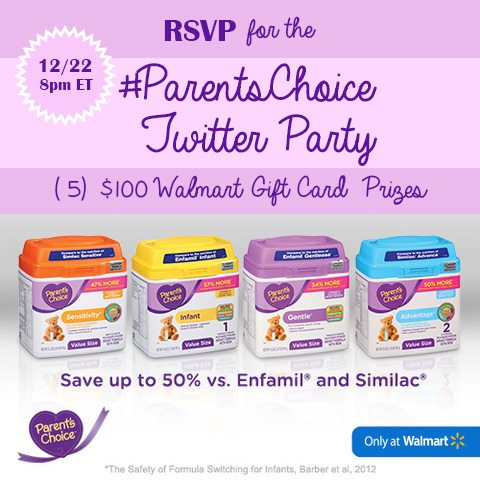 RSVP for the #ParentsChoice Twitter Party on 12/22/2016