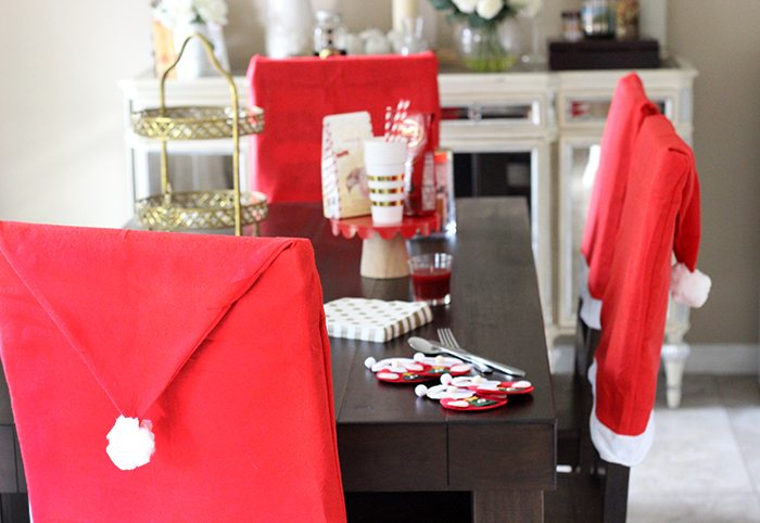 Santa Tablescape. Santa will be coming for milk & cookies, transform your dining room for under $25 with this set. ?
