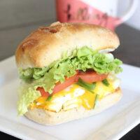 Lettuce, Tomato & Chive Breakfast Sandwich