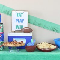 Eat, Play, Win! Football Party Table Ideas