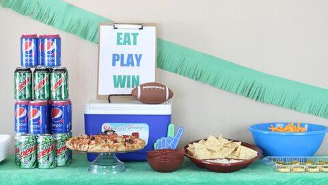 Eat, Play, Win! Football Party Table Ideas