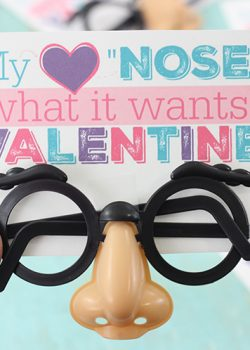 "My Heart ""Nose"" Valentine's Day Printable"