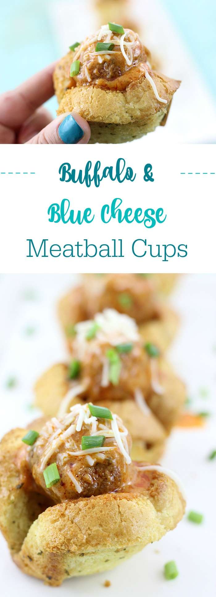 Click the image now to get this Buffalo Blue Cheese Meatball Cups Made in the Slow Cooker now.