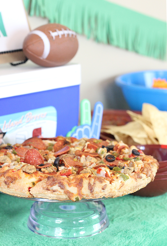 Eat Play Win. Click the image to get budget friendly football party ideas.