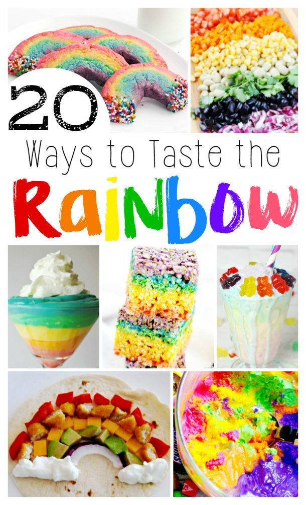 Rainbow Recipes. 20 Fun Ways to Serve up a colorful treat at home or to celebrate St. Patrick's Day.