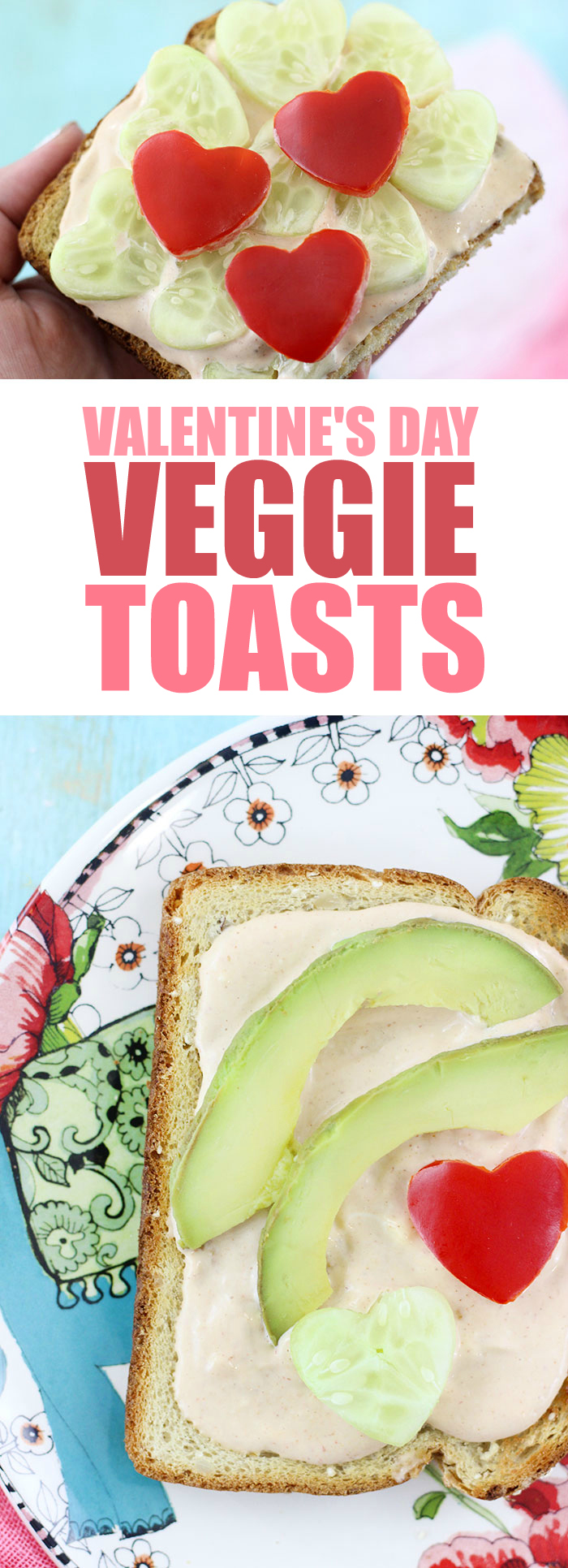 Valentine 39 s day vegetables heart shaped veggie toasts for Things to do on valentine s day near me