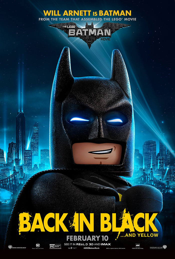 DIY Magnetic LEGO Batman Sign to celebrate upcoming The LEGO Batman Movie on 2/10.