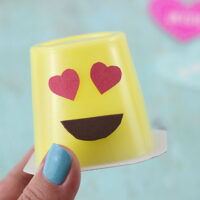 Emoji Pudding Cups, a super cute way to make snack time fun.