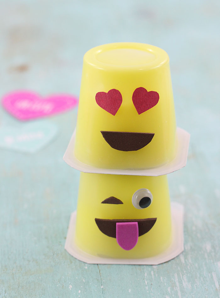 Emoji Pudding Cups, a super cute way to make snack time fun.