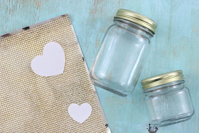 Gold Heart Jar Diy Makeup Organizers Cutefetti