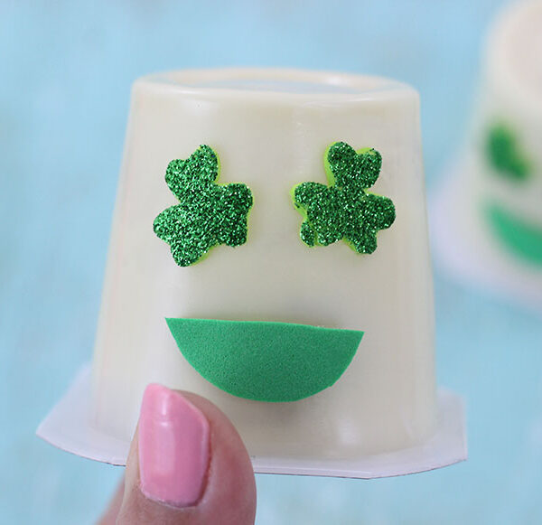 Shamrock Emoji Pudding Cups