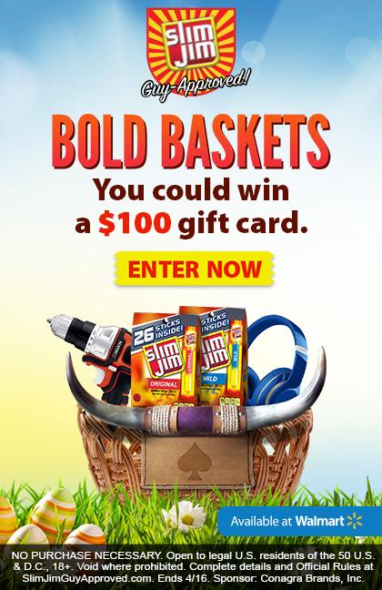 DIY Easter Basket For Men. Use Slim Jim packages and cardboard to make your own basket.