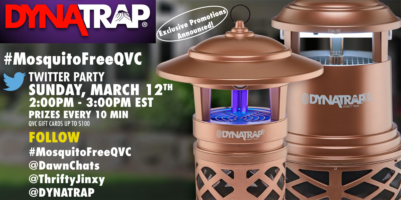 Join the #MosquitoFreeQVC Twitter Party on 3/12!