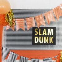 DIY Slam Dunk Basketball Party Sign
