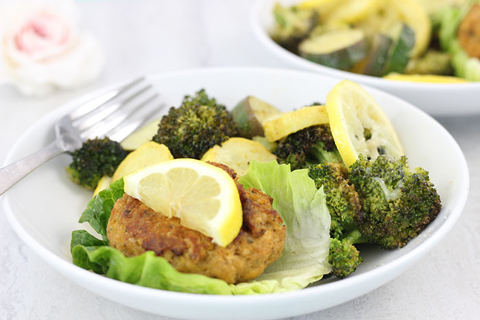 One Pan Crab Cakes and Vegetables. This quick hack makes for a seriously delish dinner on the fly.
