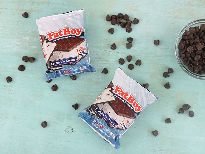 FatBoy Ice Cream just got FATTER with this easy chocolate and cookie coating.
