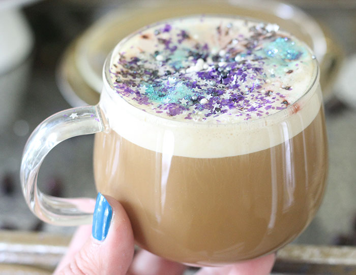 Galaxy Latte. An out of this world latte that can be made in just seconds.