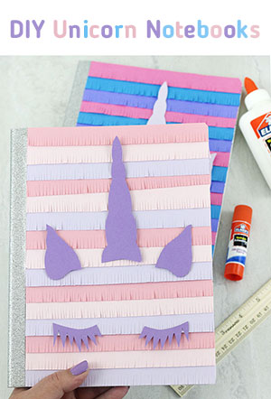 DIY Unicorn Notebooks