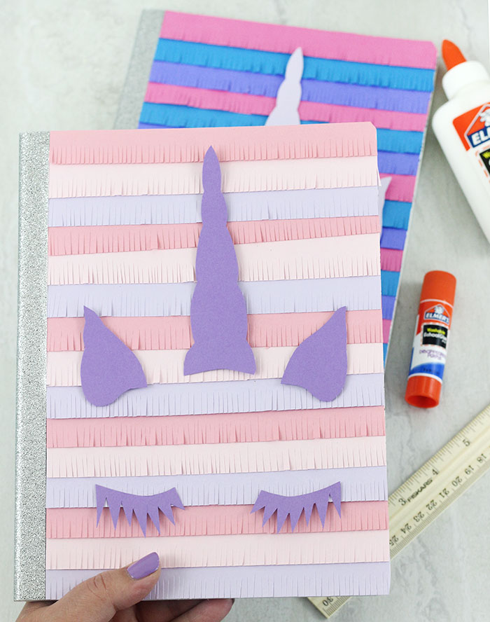 DIY Unicorn Notebooks. Pinata style! So CUTE. Free printable.