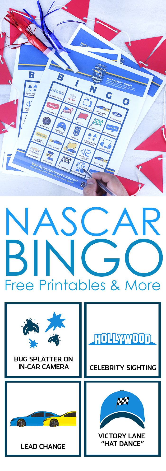 graphic relating to Printable Nascar Schedule known as Absolutely free NASCAR Printable Bingo +Giveaway Cutefetti