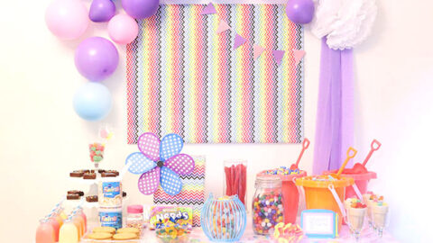 Whimsical DIY Candy Buffet Ideas