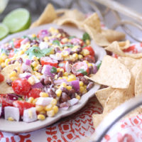 Creamy Lime Black Bean & Corn Salsa