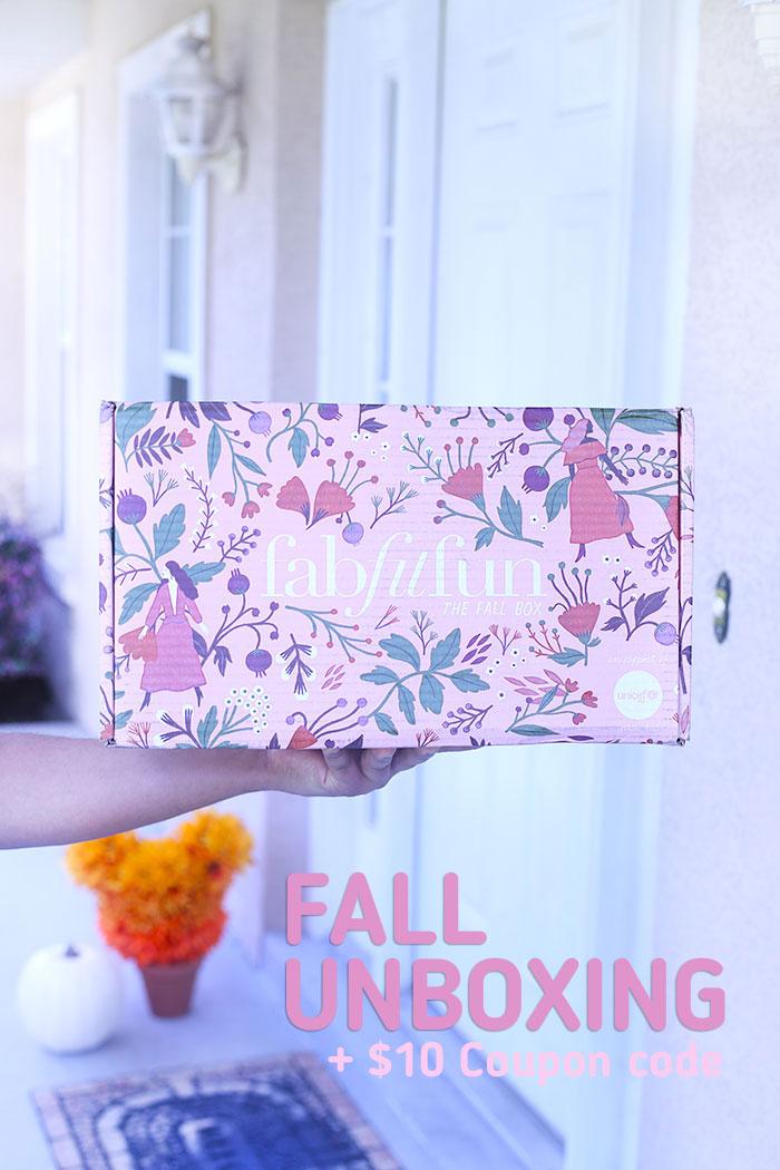 FabFitFun Fall Box Unboxing. HOT products for the perfect season.