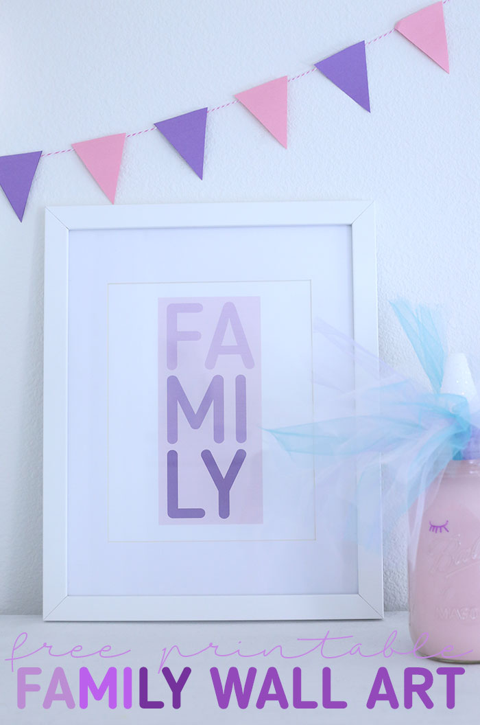 Family Printable Wall Art. Free Download.
