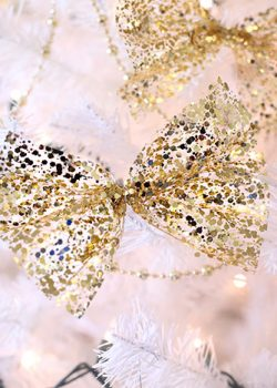 White and Gold Christmas Decorations for Less