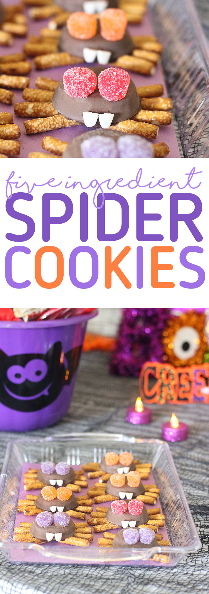Spider Cookies and Halloween Party Ideas. So easy to make and spookingly adorable.