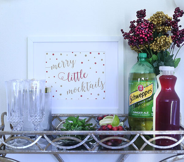 """Merry Little Mocktails"" DIY Mocktail Bar"