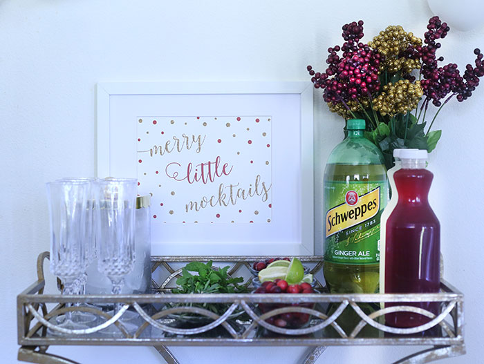 DIY Mocktail Bar Ideas. Have your guests help themselves. You will love it and so will they.