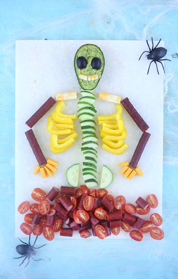 Spooky Skeleton Snack Tray