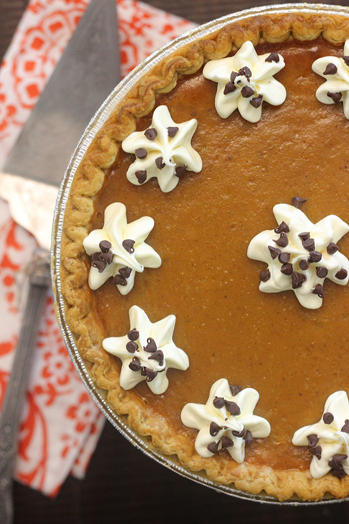 Turn a store bought freezer pie into your own perfect holiday pie creation.