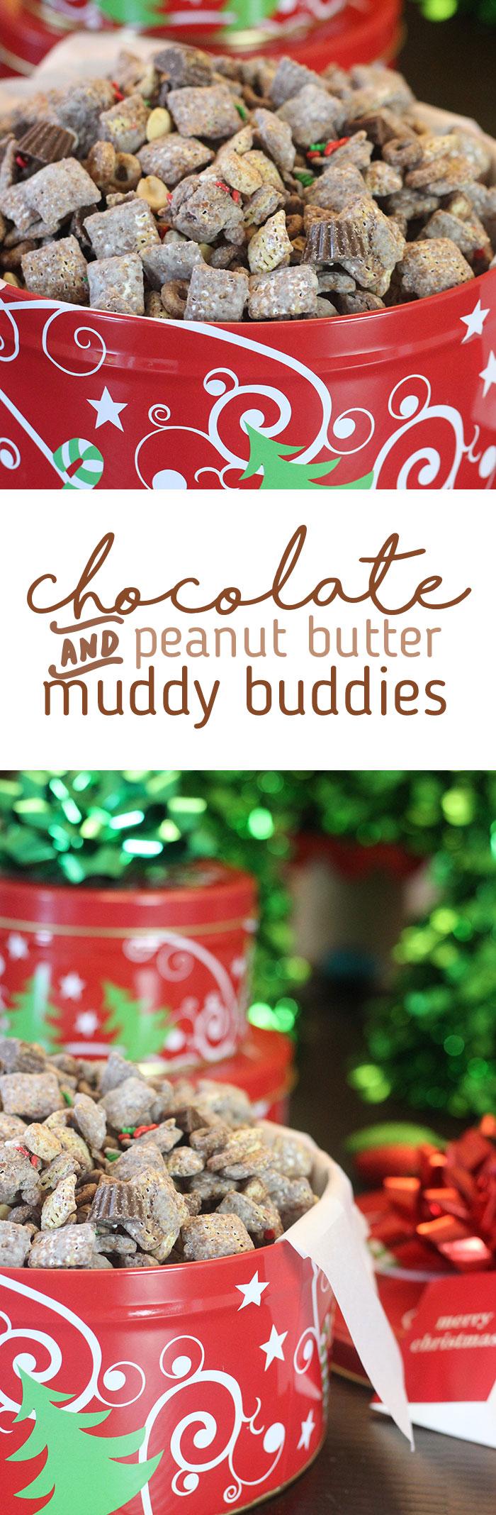 Peanut Butter and Chocolate Muddy Buddies