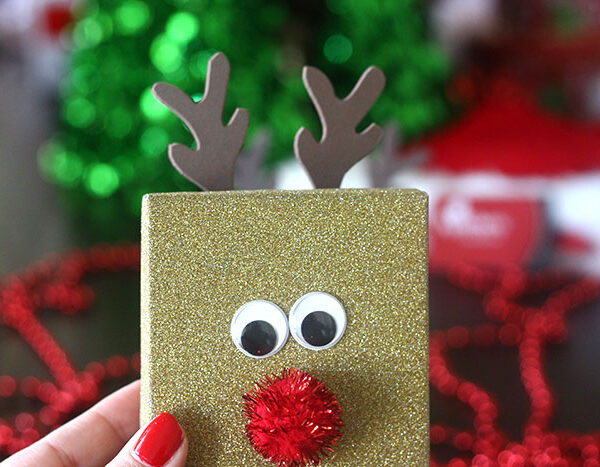 DIY Rudolph Gift Box for Christmas Gifts.