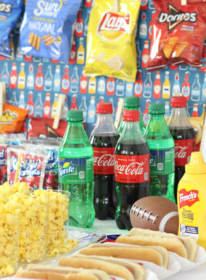Football snack bar party ideas. Concessions.