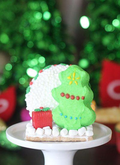 Marshmallow PEEPS Christmas Tree Cupcakes