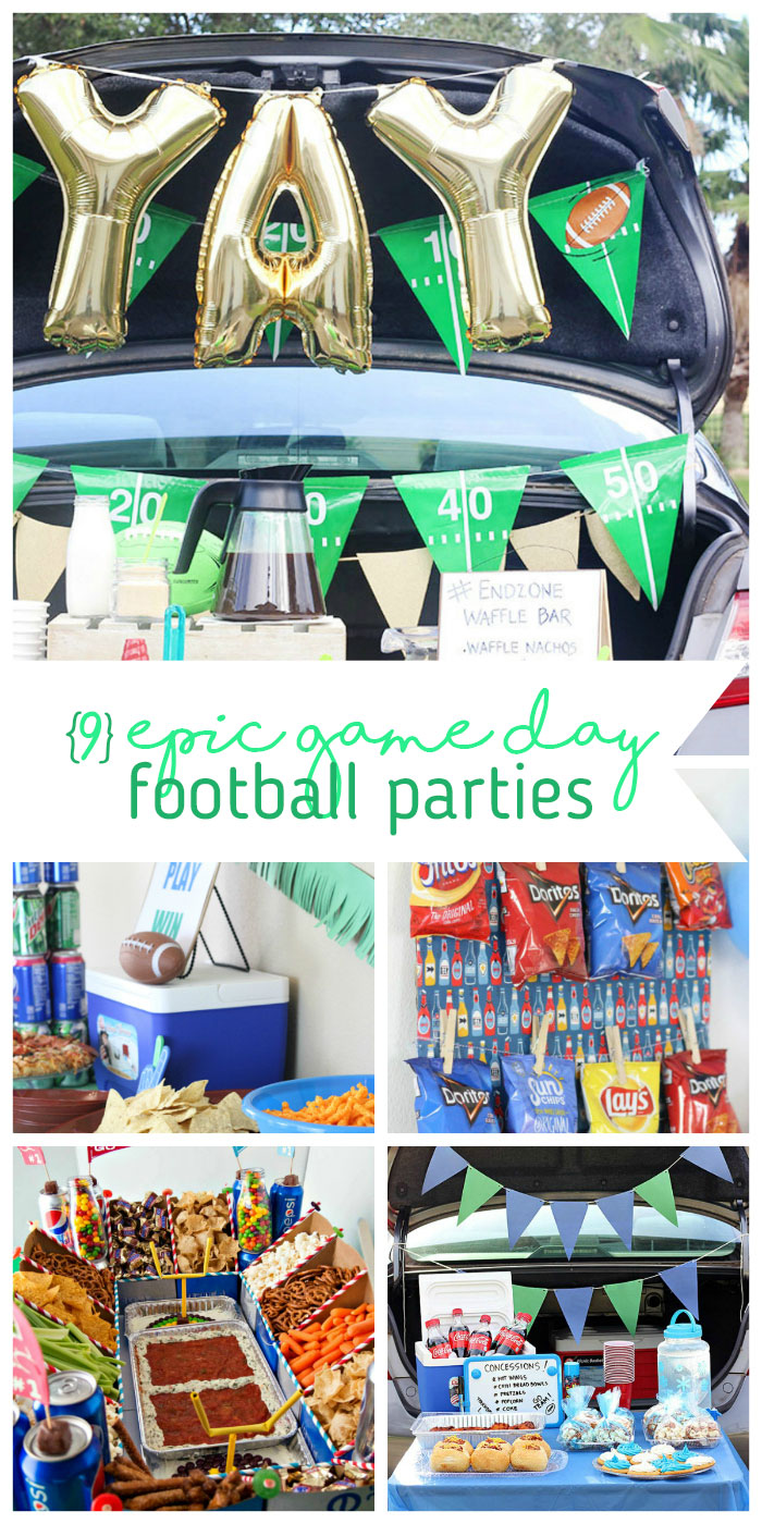 Football Party Spread Ideas